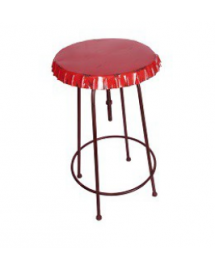 table haute plateau capsule rouge 60cm