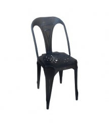 chaise fer noir antique