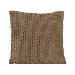 coussin chevron brun 45x45cm