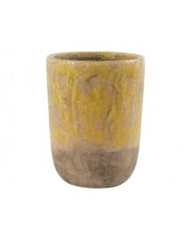 pot amanda jaune D16.5 x 21.5 cm