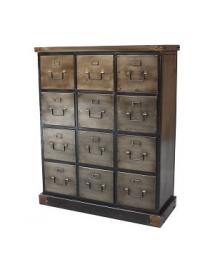 meuble industriel 12 tiroirs