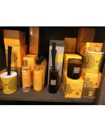 bougie parfume rechargeable ambre