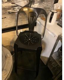 fauteuil de bar ave dossier noir use
