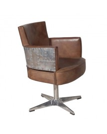 swinderby swivel chair destroyed 62x87x62cm