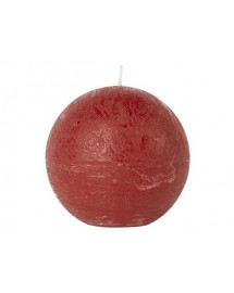 bougie boule rouge D8 cm