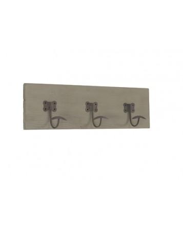 planche 3 portemanteaux 60x17.5cm h