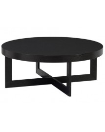 table basse ebony d90 h 35cm