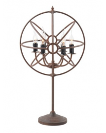 gyro table lamp at rust 42x81x44cm