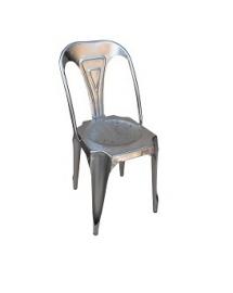 chaise fer naturel acier