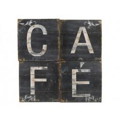 plaque métal café