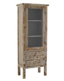 vitrine chelsea marron antique 60x33.5x150h