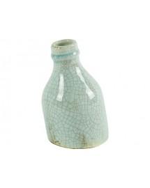 vase bouteille turquoise