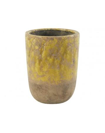 pot amanda jaune D18.5  x 17.5 cm