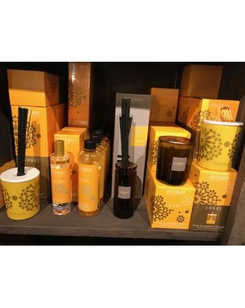 bougie decorative parfumee et rechargeable ambre