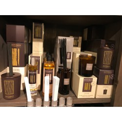 bougie decorative parfume et recharge cedre