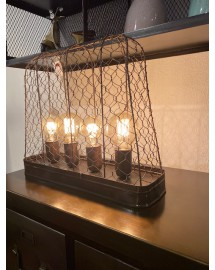 lampe industrielle grillagée