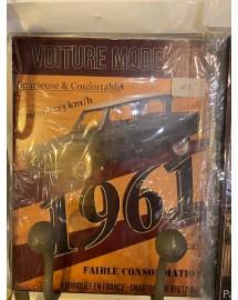 plaque voiture 1961