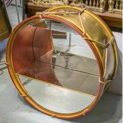 decorative regiment drum-brass 85x42x85cm