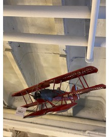 avion hydroglisseur rouge