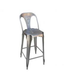 fauteuil de bar avec dossier acier