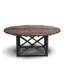 axel round dining table natural 120x76x120cm