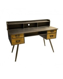 bureau fer et bois 135x95x60