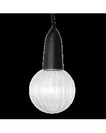 textile pendant black LED wave