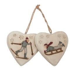 Set cœur décor skieur