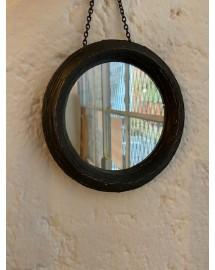miroir rond noir 15.3cm d