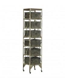 meuble palerme 6 tiroirs zinc 40x35xH175