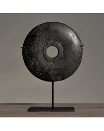 small black disk