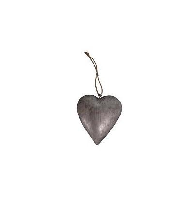 Cœur à suspendre zinc 18x18