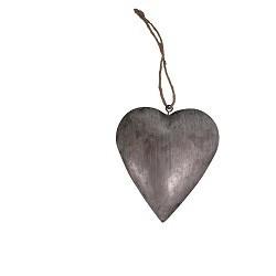 Cœur à suspendre zinc 13x13