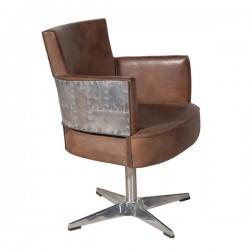 swinderby swivel chair destroyed 62x87x62cm