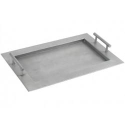 plateau zinc quadra 46 x 30.5 cm
