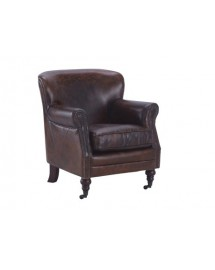 fauteuil tucson cuir brun