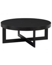 table basse ebony d90 h 35cm